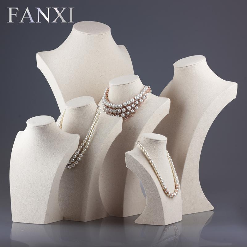 Linen Jewellery: FANXI Free Shipping Professional Custom Linen Necklace