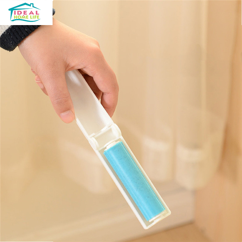 New Blue Washable Portable Foldable Lint Rollers Clothes Dust Removal Roller Can Be Recycled Remover Cycling(China (Mainland))