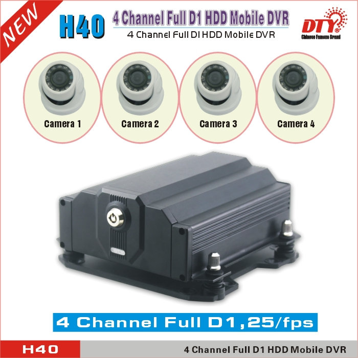 4 ch hdd sd card dvr ,truck dvr system with WiFi & GPS,H40GW(China (Mainland))