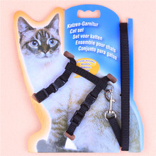 Free shipping Adjustable Nylon Rope Pet Dog Puppy Cat 5 COLORS Lead Leash Harness Walking Chest Strap PG36(China (Mainland))