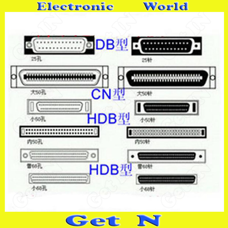 100pcs Custom Internal 50 Pin/68 Pin SCSI Data Cable External 50 Pin/68 Pin SCSI Charger Line(China (Mainland))