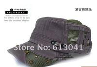 высокое качество унисекс летом солнце шляпа для мужчин и женщин плоский солнце капота женского сетки колпачок с тремя звездами 4 цвета