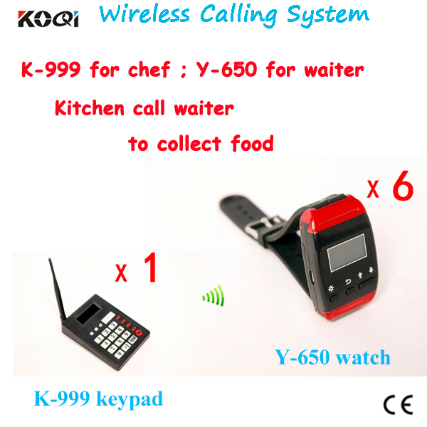 Restaurant equipment Wireless cooker call waiter system to collect food(China (Mainland))