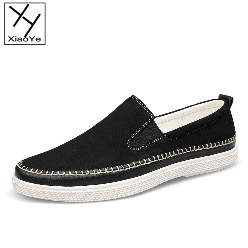Casual Comfort Wind Fashion Mens Suede Leather Shoes Slip On Freedom Loafer Flats EU Size 37-46