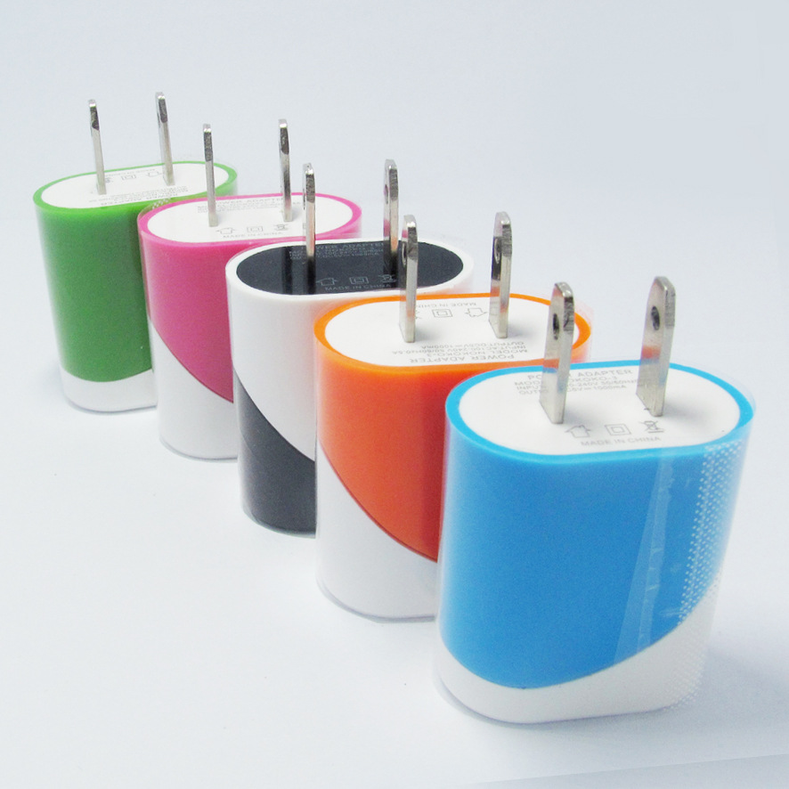 10x High Quality Double Color USB Mobile Phone Wall Chargers China Brand New 5v1A Chicken Roll For iphone6 /Samsung /HTC/ Xiaomi(China (Mainland))