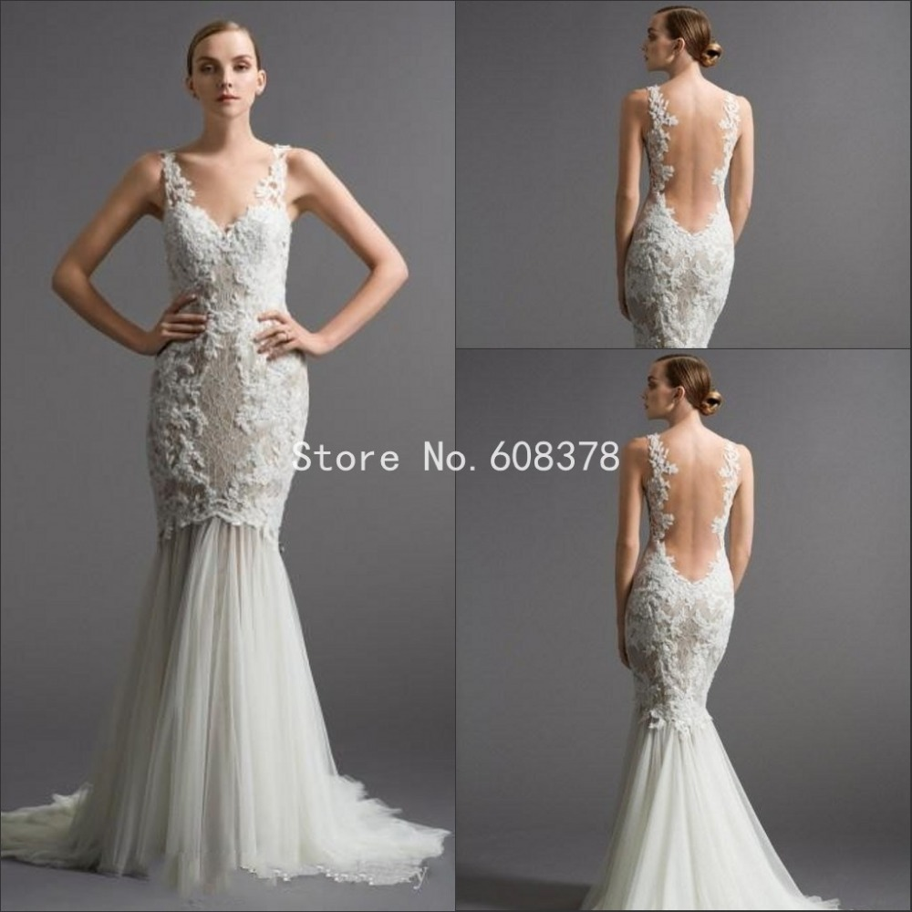 Charming Lace Mermaid Wedding Dresses With Sweetheart