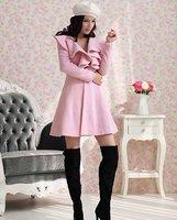 женские длинные пальто куртки розовый одежда Осень и зима d-98-326