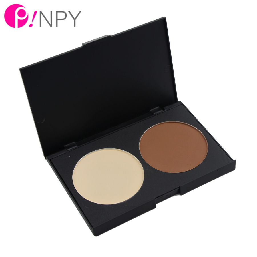 2016 HOT New 2 Color Contour Foundation Palette Makeup Contour Shading Cosmetic Concealer Highlight Powder Palette