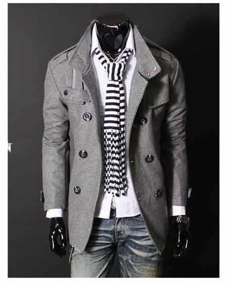 Wholesale Big Fashion Mens Wool Trench Coat Winter Jacket Overcoat ...