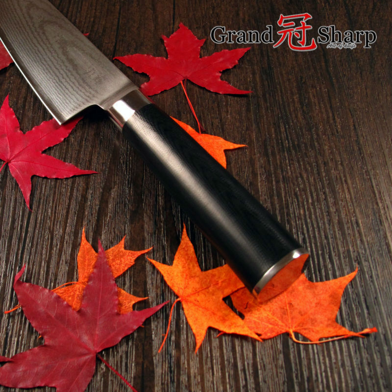 Buy Grandsharp 8 Inch Chef Knife 67 Layers Japanese Damascus Stainless Steel VG-10 Core Kitchen Knives Cooking Tool FREE SHIPPING cheap
