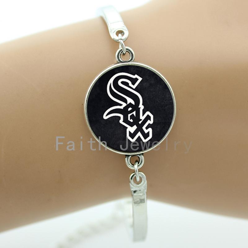 Trendy men accessories Chicago White Sox logo bracelets Boston Red Sox bracelet ball fans favorite jewelry boyfriend gift NS378(China (Mainland))