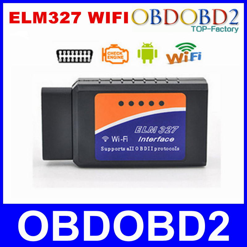 Best Quality ELM327 WIFI V1.5 OBDII/OBD2 Diagnostic Scanner ELM 327 Wifi Support All OBDII Protocols For Android/IOS/Windows(China (Mainland))