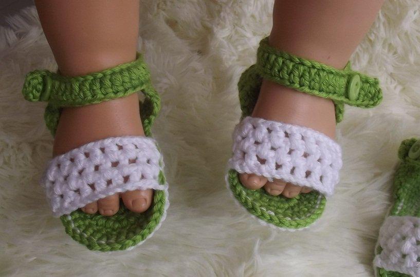 comment tricoter des sandales pour bebe