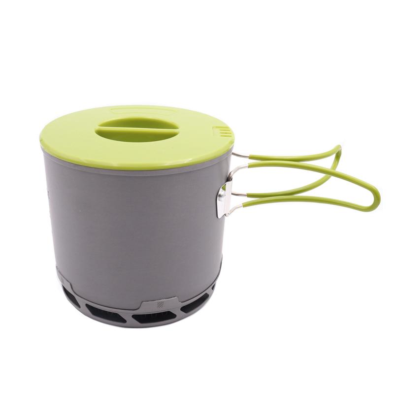 Heat Exchanger Pot Energy Camping Gathered Pot Outdoor Cookware BDS202(China (Mainland))