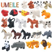UMEILE 5pcs/set Duplo Original Classic Animal Zoo Big Building Blocks Child Toys DIY Set Brick Gift For 18M+ Baby Brinquedos(China (Mainland))