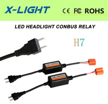 2x H7 LED Headlight Canbus Error Free Anti Flicker Resistor Canceller Decoder(China (Mainland))