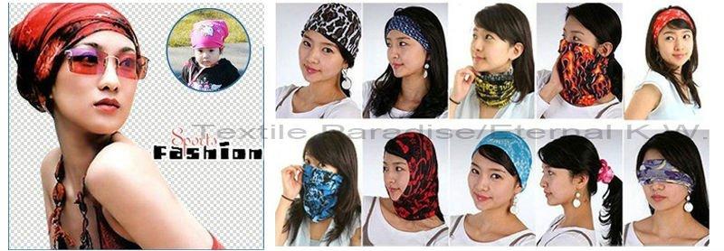 משלוח חינם 1pc/lot קמעונאית האופנה האחרונה אופציונלי סגנונות ספורט 100% פוליאסטר מיקרופייבר צינור הכובעים רב בנדנה עבור גברים