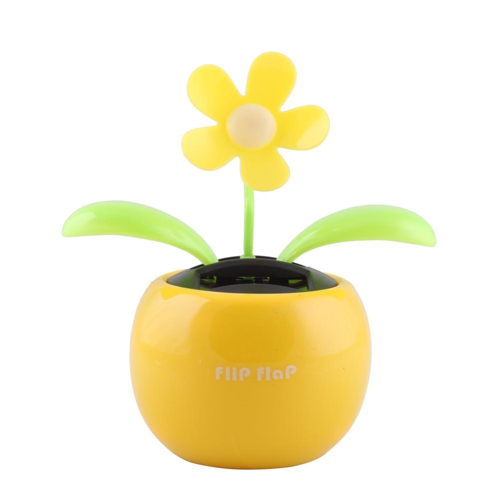 солнечных батареях флип лоскут прохладно автомобиль цветок танцы игрушку #5461