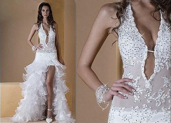 sexy Hochzeitskleid mit Schlitz