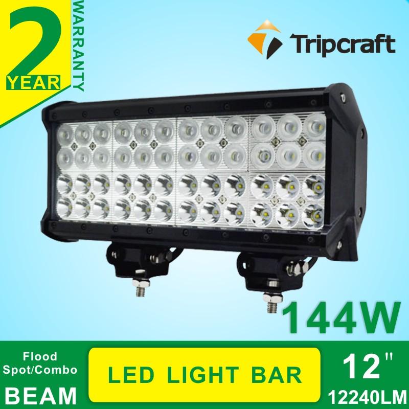 CE RoHs IP67 certification 4 row led light bar 144w cre e led ramp(China (Mainland))