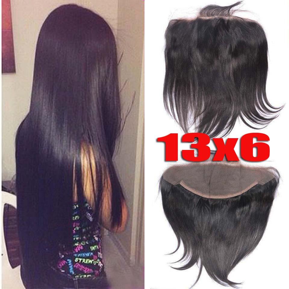 Lace Frontal Closure 13X6 Top Grade 7A Brazilian Human Hair Virgin Hair Straight Natural color density 130%<br><br>Aliexpress
