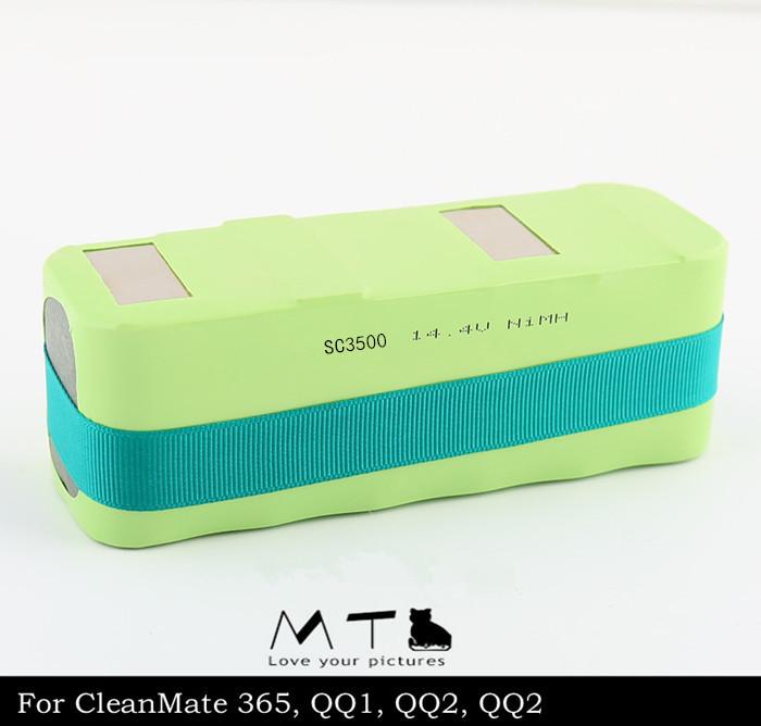 14.4V 3500mAh Battery For INFINUVO For CleanMate 365, QQ1, QQ2, QQ2 Basic, QQ2 LT, QQ-2 Free shipping(China (Mainland))