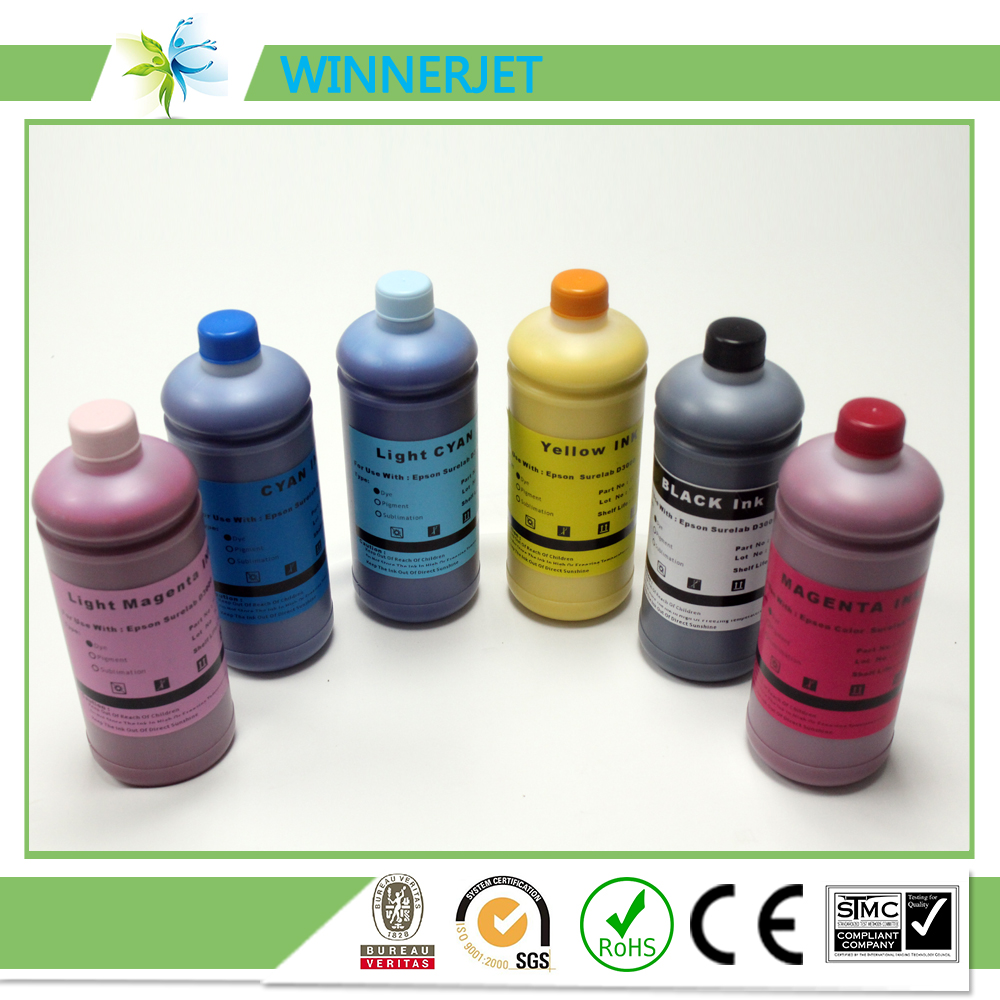 1000ml*6 top quality and cheap price water based ink for epson surelab D3000, dye ink compatible for epson printer(China (Mainland))