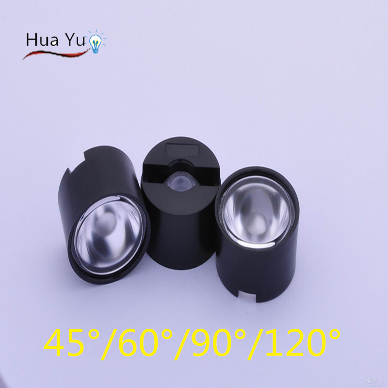 High power led lens 20mm 45 60 90 120 degree Frosted surface Scattering lens for  1W 3W chip, LED Optical lensWith 22mm  Holder от Aliexpress INT