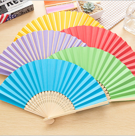 10pcs* Personalized Ladies Bamboo & Raw Silk Fan Hollow Out Hand Folding Fans Outdoor Dancing Wedding Party Favor mixture color(China (Mainland))