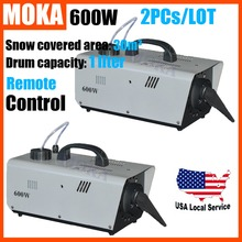 Buy 2 pcs/lot mini 600W Snow Machine remote control DMX512 snow maker machine Stage FX christmas decorations home for $260.00 in AliExpress store