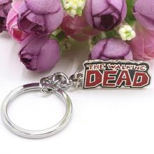 The Walking Dead Classic Silver Plated Letter Key Chain