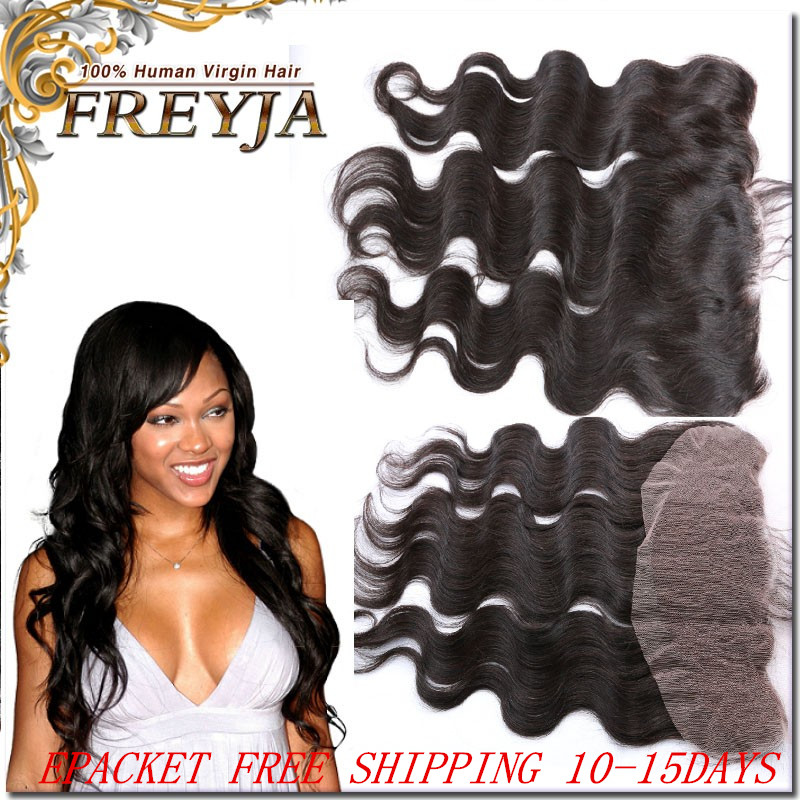 7AUnprocessed 100%Virgin Human Peruvian Lace Frontal Closure 13x4 Free Shipping Ear to Ear Lace Frontal Body Wave with Baby Hair<br><br>Aliexpress