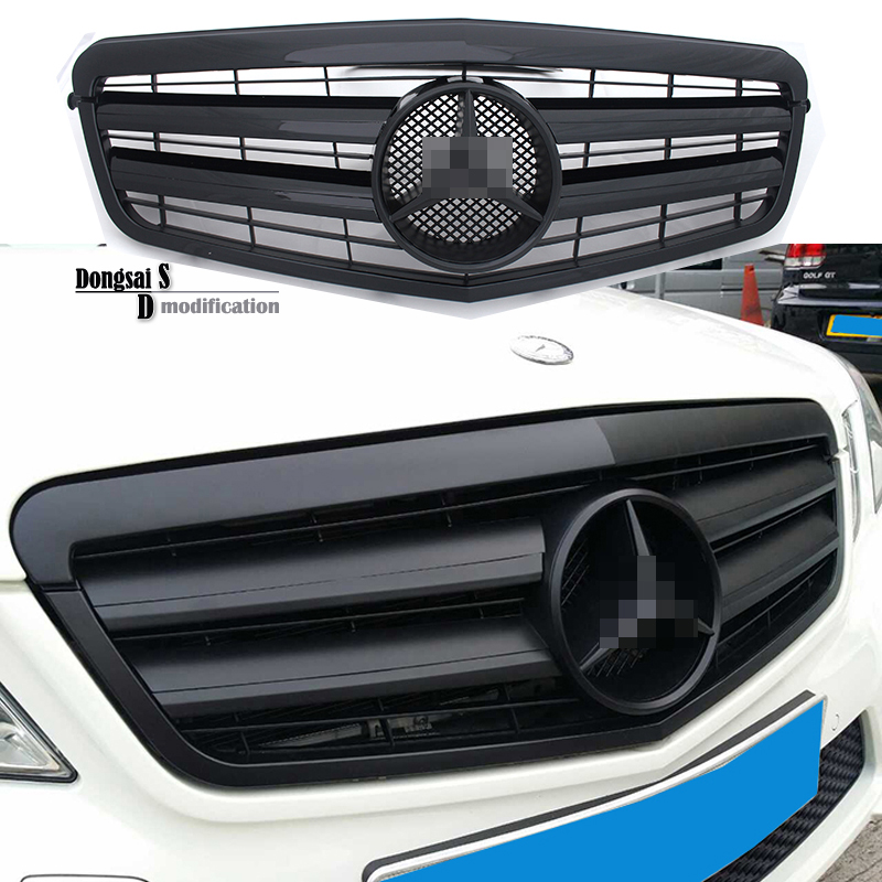 2010 - 2013 Mercedes W212 2-Fin ABS Grill Front Bumper Mesh Grille grill for Benz E Class Vehicles e200(China (Mainland))