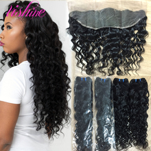 Brazilian Water Wave Lace Frontal Closure Brazilian Virgin Hair with Closure Lace Frontal Closure With Bundles Human Hair Weave
