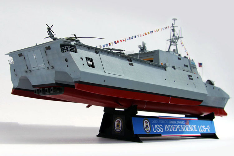 Wholesale trumpeter model uss independence lcs 2 1 350 static warship us navy ship model cyber