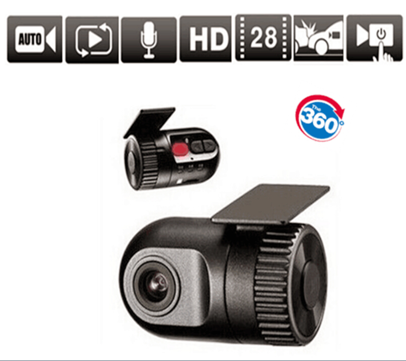 Mini 1080P HD car dvr Dash Cam 360 Recorder Rotatable Lens Car Camera Snapshot Auto Camcorder(China (Mainland))