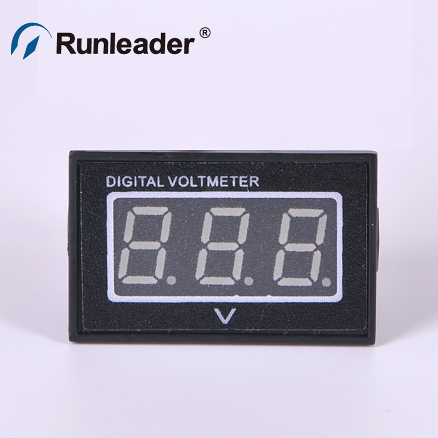 Two Wires Digital Voltmeter Blue LED Display DC3V-30V Voltage Meter(China (Mainland))