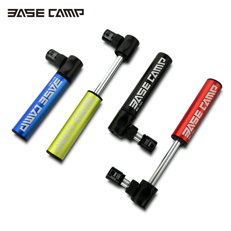 Basecamp Alloy High Pressure A Bicycle Mini Portable Air Pump Mountain Bike Tire Inflator Urltra-Light Cycling Accessories