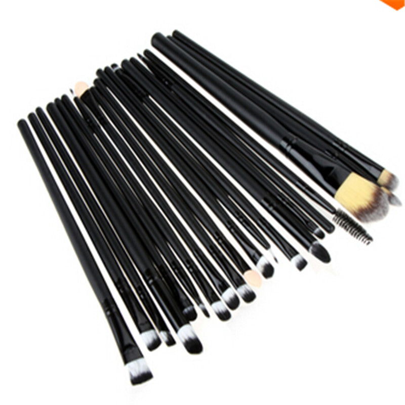 20PCS Complete Make up Brushes Set Eyeliner Eyeshadow Blending Pencil Brush Makeup Brushes Soft Cosmetics Make-up Kit(China (Mainland))