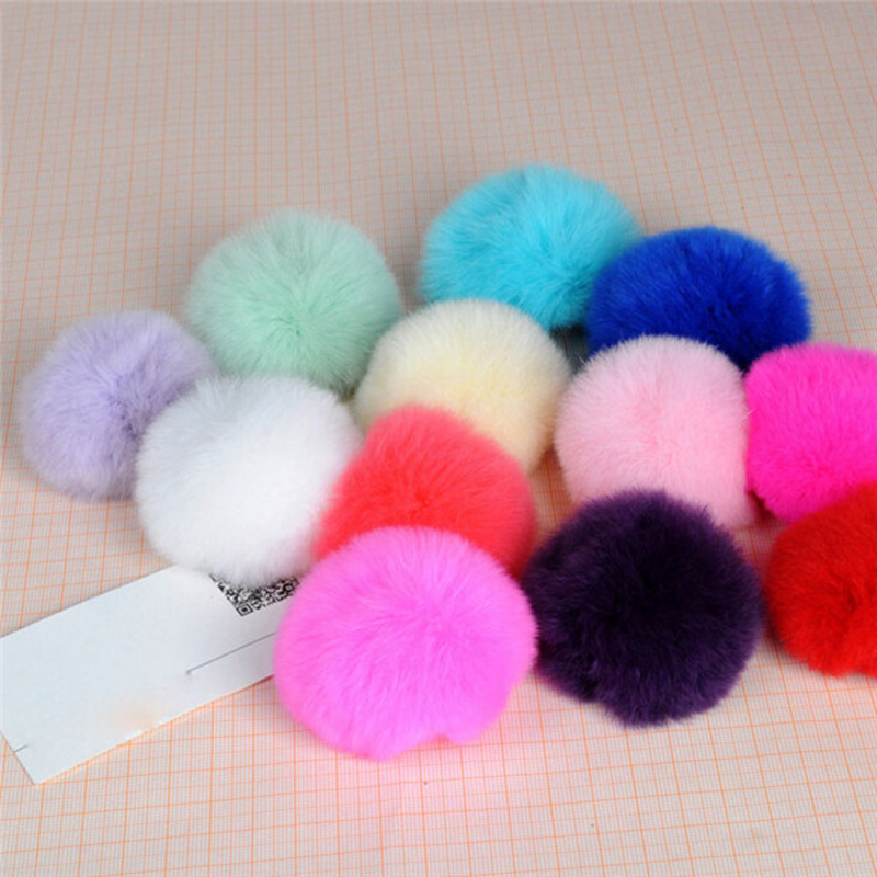 9 Colors Hot 6cm Luxury Soft Warm Genuine Real REX Rabbit Fluffy Fur Ball Mobile Phone Charm Cute Cellphone Accessory(China (Mainland))