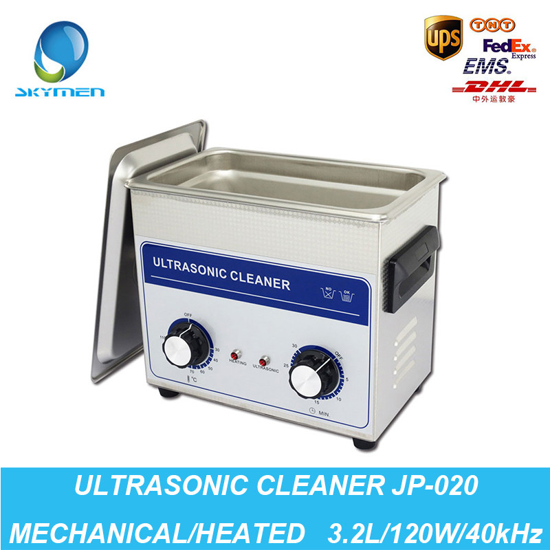 Ultrasonic Jewelry Cleaner Washing 3.2L Tank Baskets Watche Injector Dental 120W 40kHz Heated Industrial Ultrasonic Bath Cheaner(China (Mainland))