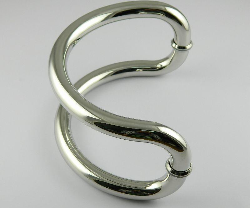 DLS-24 Semi-circular glass door handles stainless steel handle large semi-circular handle size 24cm от Aliexpress INT