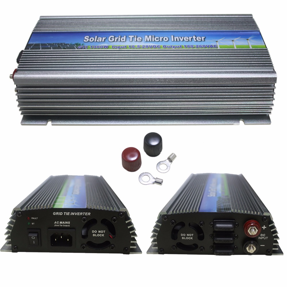 Sale!1000W MPPT grid tie solar inverter,10.5-28V DC,180-260V AC,Solar grid tie inverter,CE,(China (Mainland))