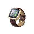 Newest 2016 S7 bluetooth MTK6572 Android Watch Phone with SIM slot 5mp Camera Waterproof Leather Wrist