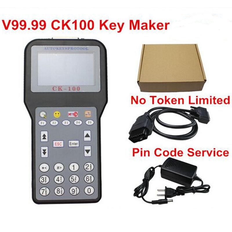 CK100 Auto Key Maker CK 100 V99.99 CK100 Key Programmer CK-100 Add Pin Code Service No Tokens Limited Latest Generation of SBB(China (Mainland))