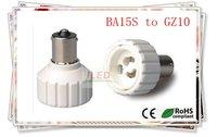 200pcs/много КЛЛ лампы адаптер ba15s для gz10 лампа держатель адаптер gz10 ~ ba15s огнезащитного pbt адаптер