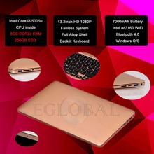 Fanless Laptop Computer Mini Notebook Core i3 5005U 2.0GHz  4GB RAM 128GB SSD 13.3inch Screen Built-in AC3160 wifi&bluetooth(China (Mainland))