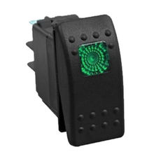 12V 20A Bar Carling Rocker Switch 3 Pin Green LED Lighted Car Boat Offroad Sales(China (Mainland))