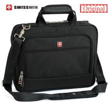 Swiss Brand laptop Briefcase Men 14 inch laptop Bag Case Multifunctional Messenger Shoulder Bag portfolio for Macbook HP Lenovo(China (Mainland))