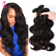 Ms Cat Hair Malaysia Virgin Hair Body Wave 4pc/lot 8-28inch Natural Black Human Hair Weave Malaysian Body Wave Fast Shipping(China (Mainland))